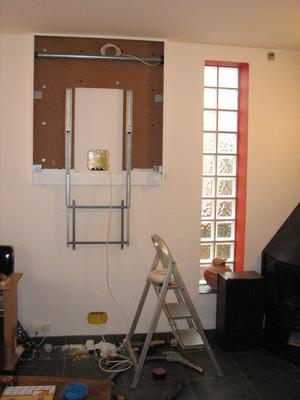 le caisson en place mise en place des boites et des gaines with cache tv tableau. Black Bedroom Furniture Sets. Home Design Ideas